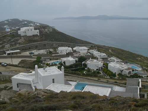 Mykonos Greece on an overcast day