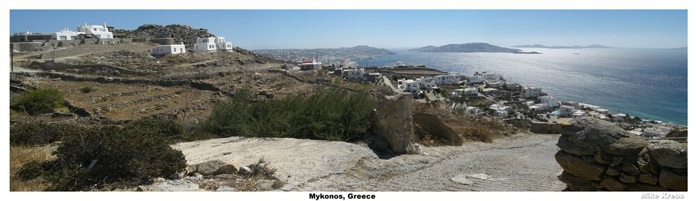 Mykonos, Greece and so many white walled houses