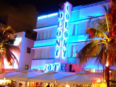Colony Hotel South Beach Florida at night
