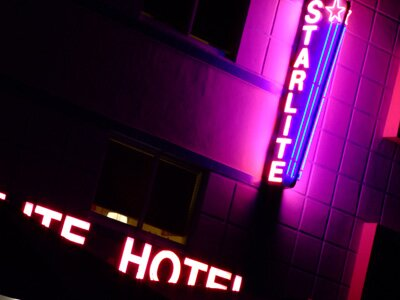 Starlite Hotel South Beach Florida at night