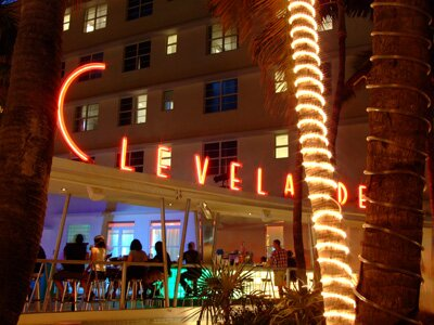 Clevelander Hotel South Beach Florida at night